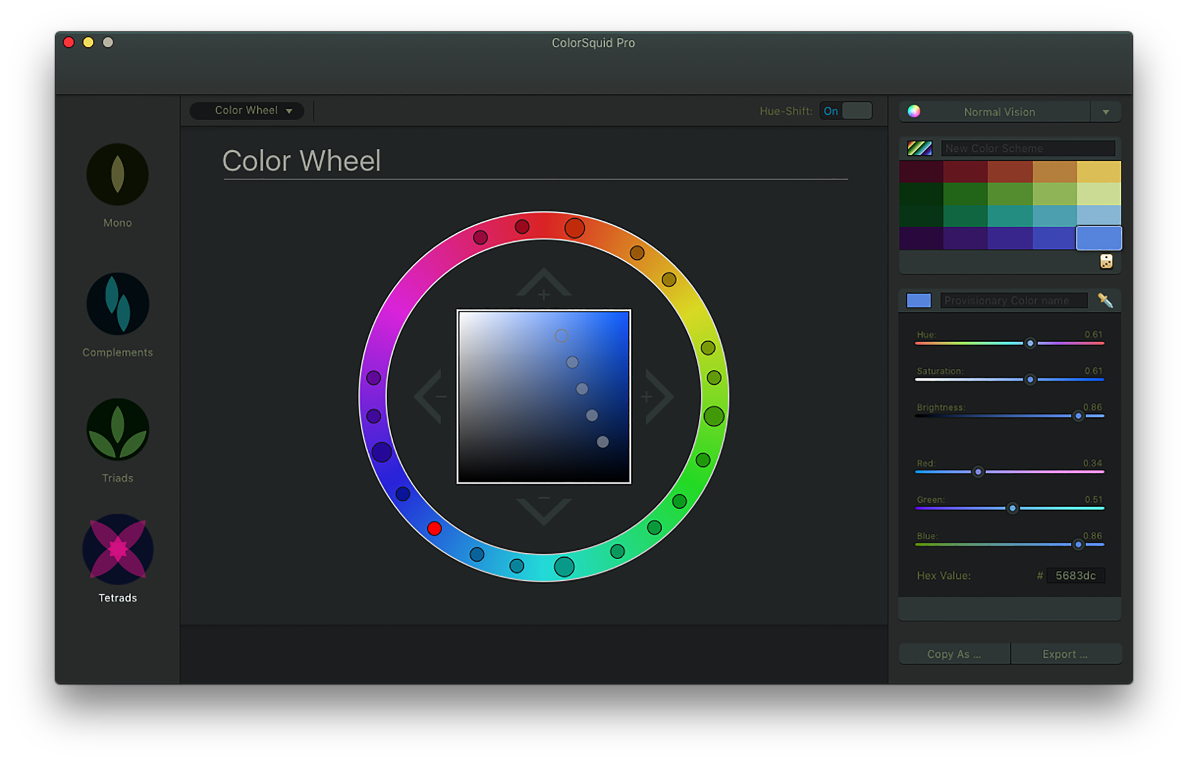 Color Scheme Designer Colorsquid  The Color Scheme Designer And Color Wheel For Mac