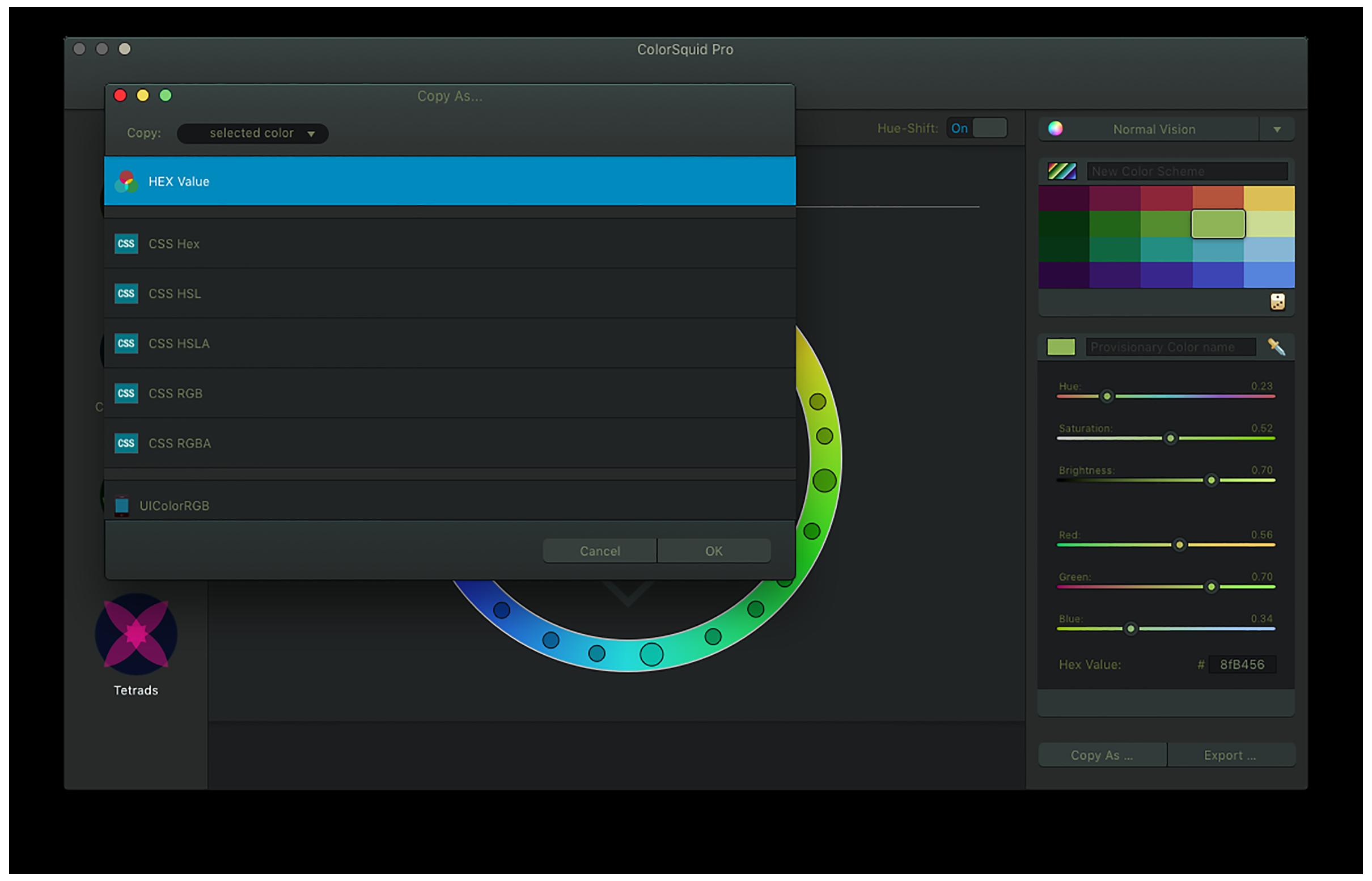 ColorSquid - The Color Scheme Designer and Color Wheel for Mac